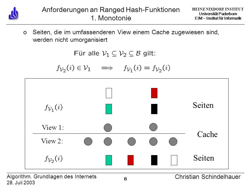 HEINZ NIXDORF INSTITUT Universität Paderborn EIM Institut für Informatik 19 Algorithm.