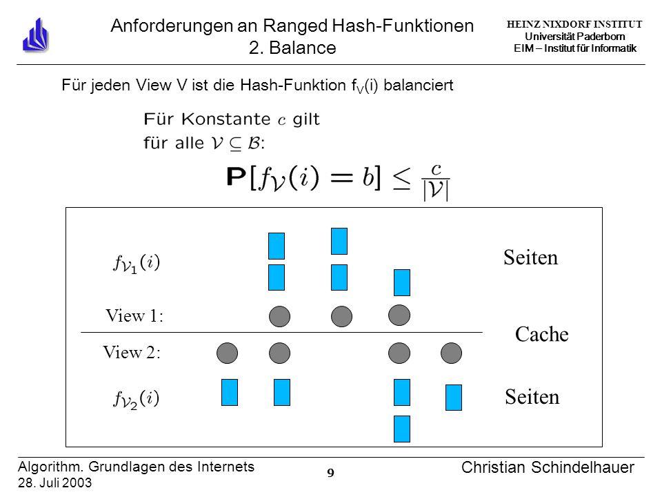 HEINZ NIXDORF INSTITUT Universität Paderborn EIM Institut für Informatik 30 Algorithm.