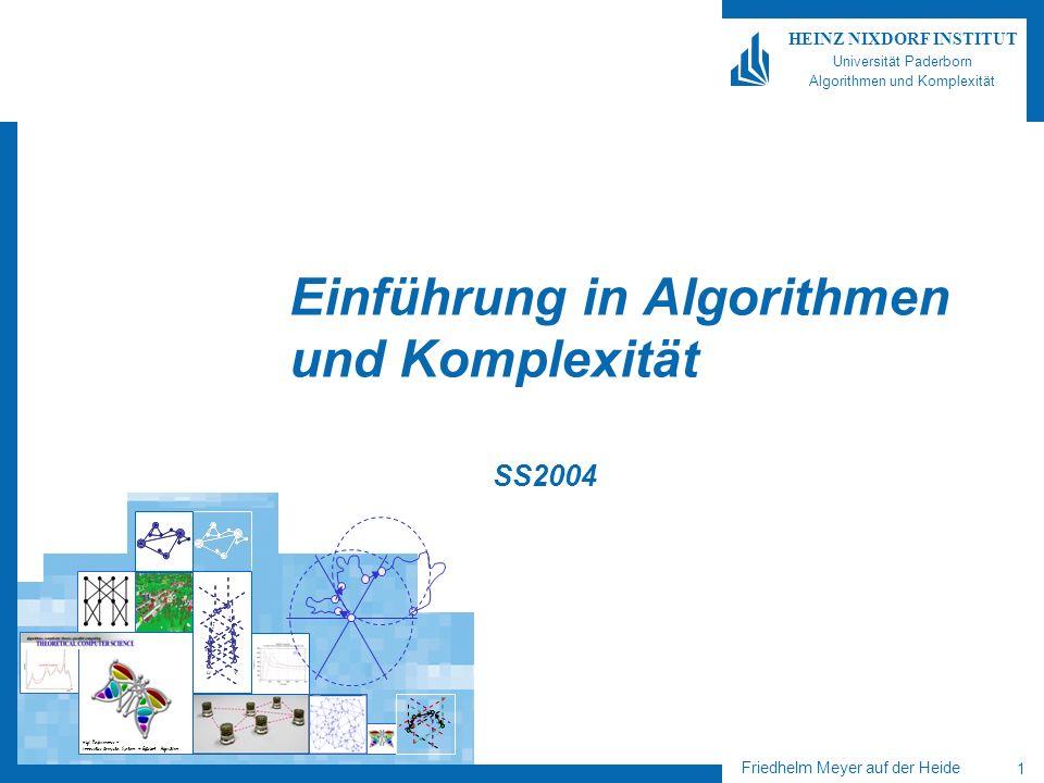 Friedhelm Meyer auf der Heide 12 HEINZ NIXDORF INSTITUT Universität Paderborn Algorithmen und Komplexität Rechnungen einer NTM Berechnungsbaum einer NTM bei Eingabe w