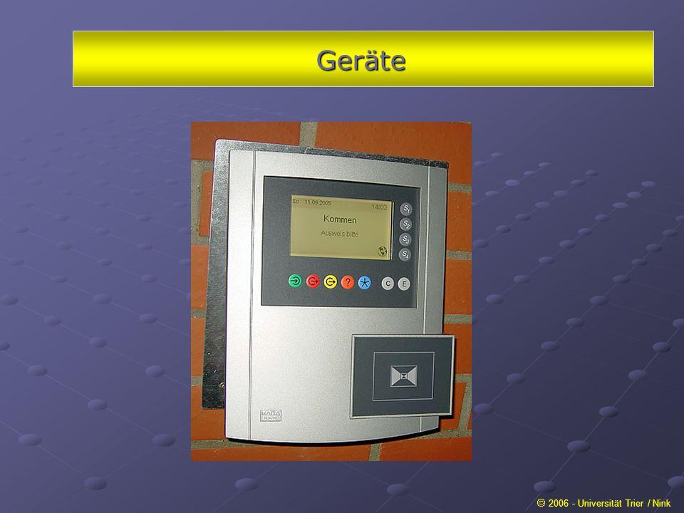 Geräte 2006 - Universität Trier / Nink