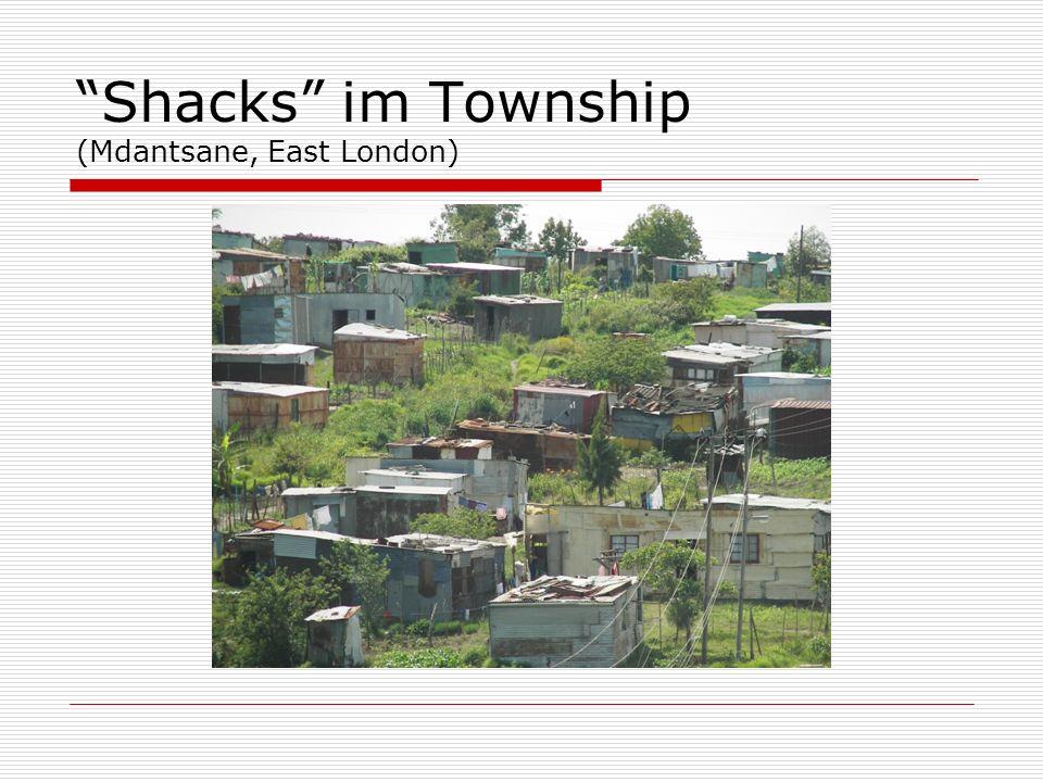 Shacks im Township (Mdantsane, East London)