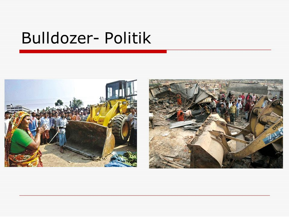 Falsche Top–Down Strategien Indien: Slum zu verkaufen.