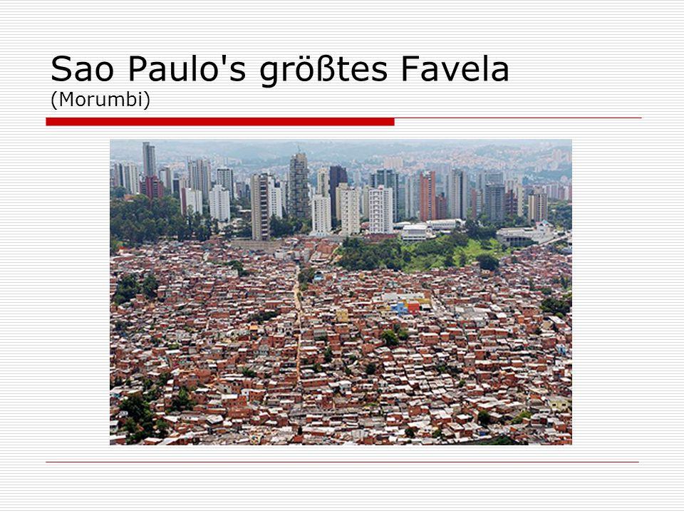 Sao Paulo's größtes Favela (Morumbi)