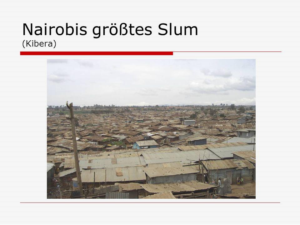 Nairobis größtes Slum (Kibera)