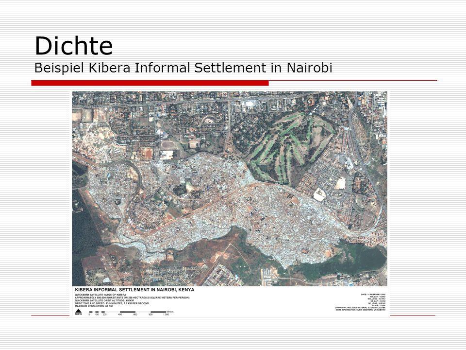 Dichte Beispiel Kibera Informal Settlement in Nairobi