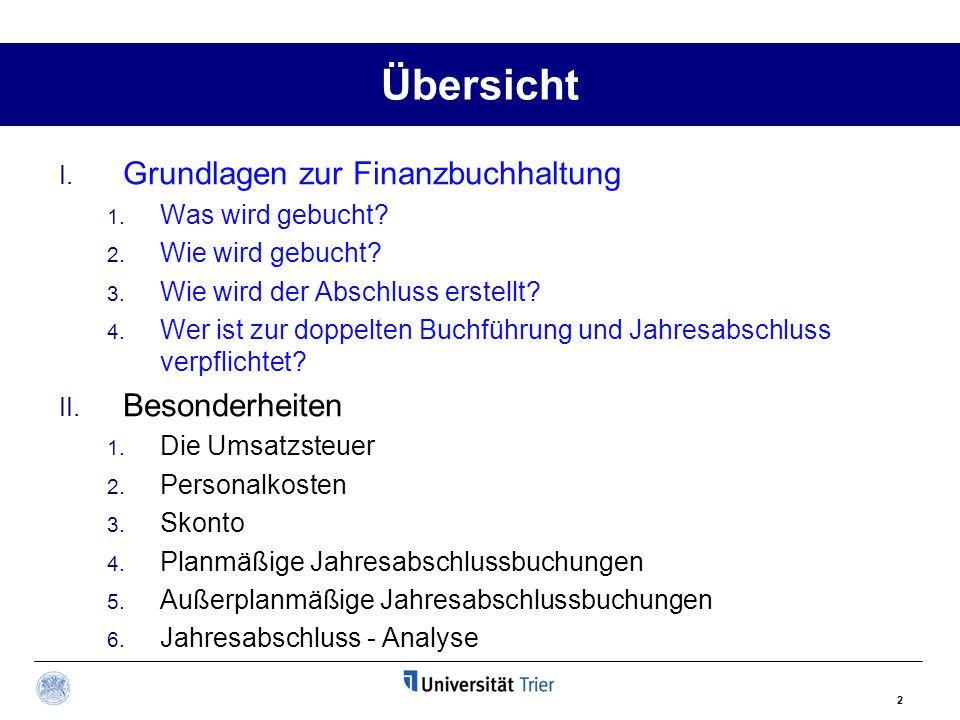 3 Übersicht Bilanzstichtag 31.12.01 t BilanzGuV- Rechnung 01.01.01