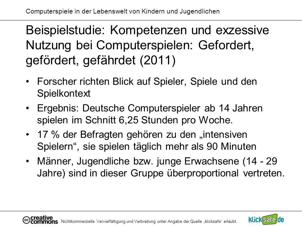 Nichtkommerzielle Vervielfältigung und Verbreitung unter Angabe der Quelle klicksafe erlaubt.