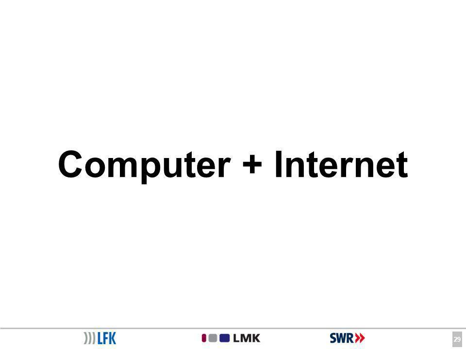 29 Computer + Internet