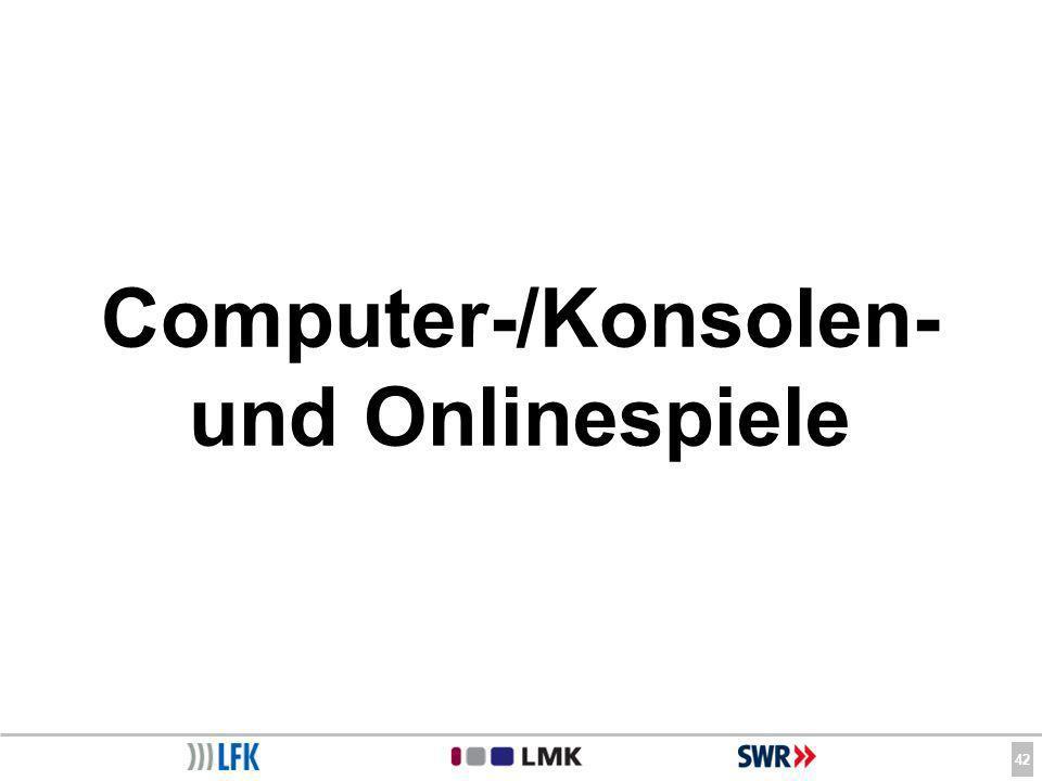 42 Computer-/Konsolen- und Onlinespiele