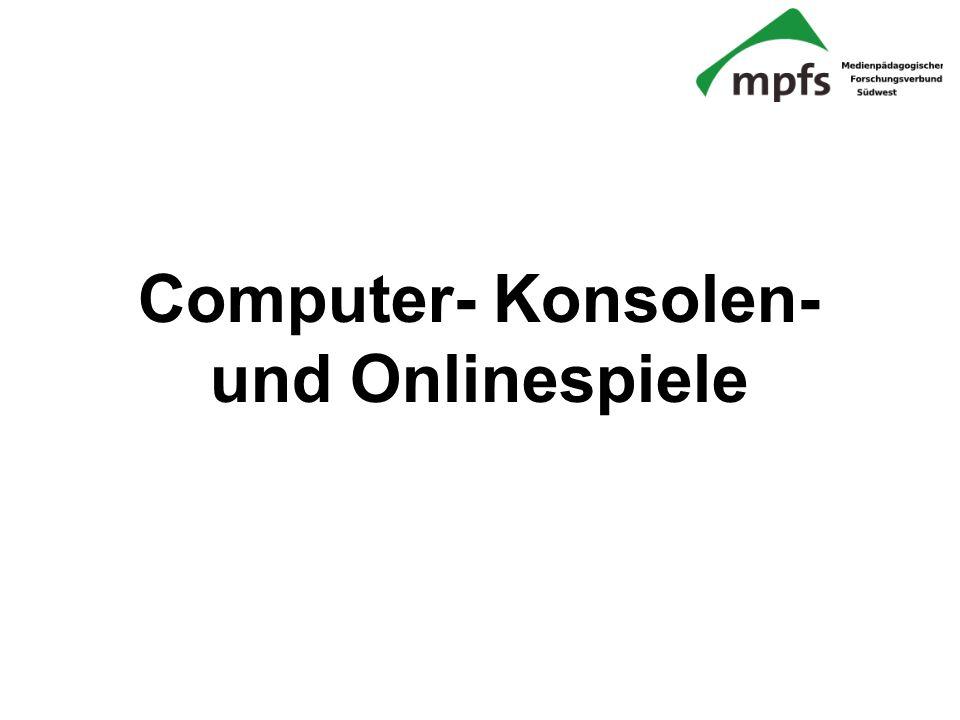 Computer- Konsolen- und Onlinespiele