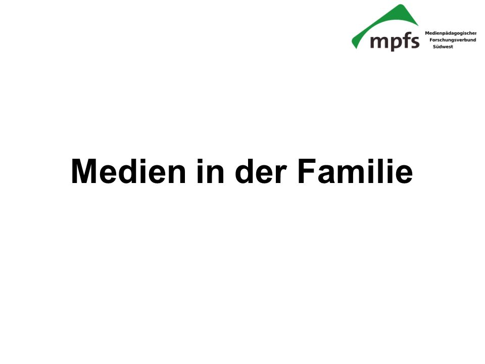 Medien in der Familie