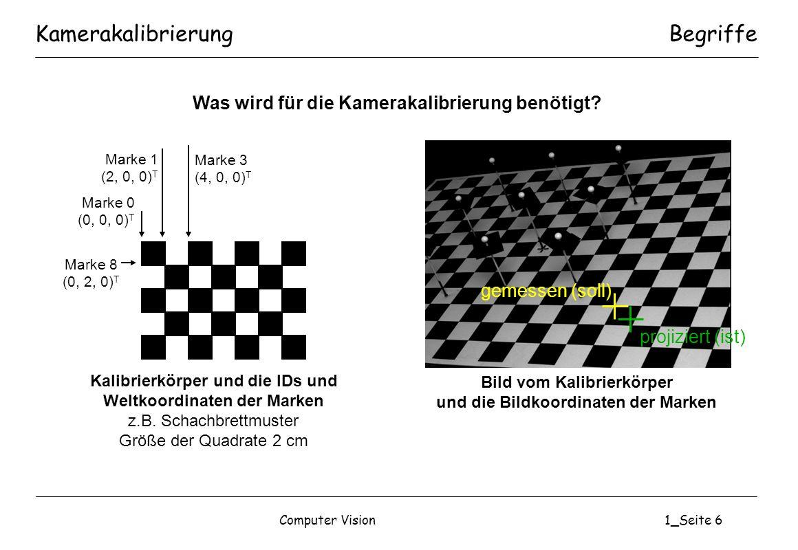 Computer Vision1_Seite 17 ADS: AuswerteergebnisseKomponenten im System Andocksequenz 3: f=16mm Stop: x=-0.17, y=1.5 Andocksequenz 10: f=16mm Stop: x=-0.31, y=0.7