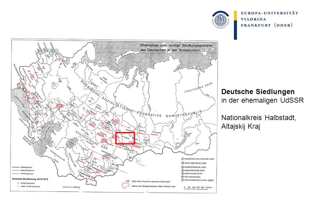 Deutsche Siedlungen in der ehemaligen UdSSR Nationalkreis Halbstadt, Altajskij Kraj
