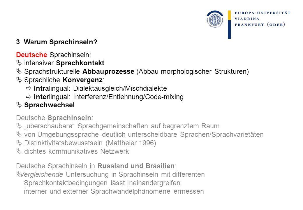Spezifika von Personalpronomina 1 Hohe Frequenz: resistenter gegenüber sprachlichem Wandel.