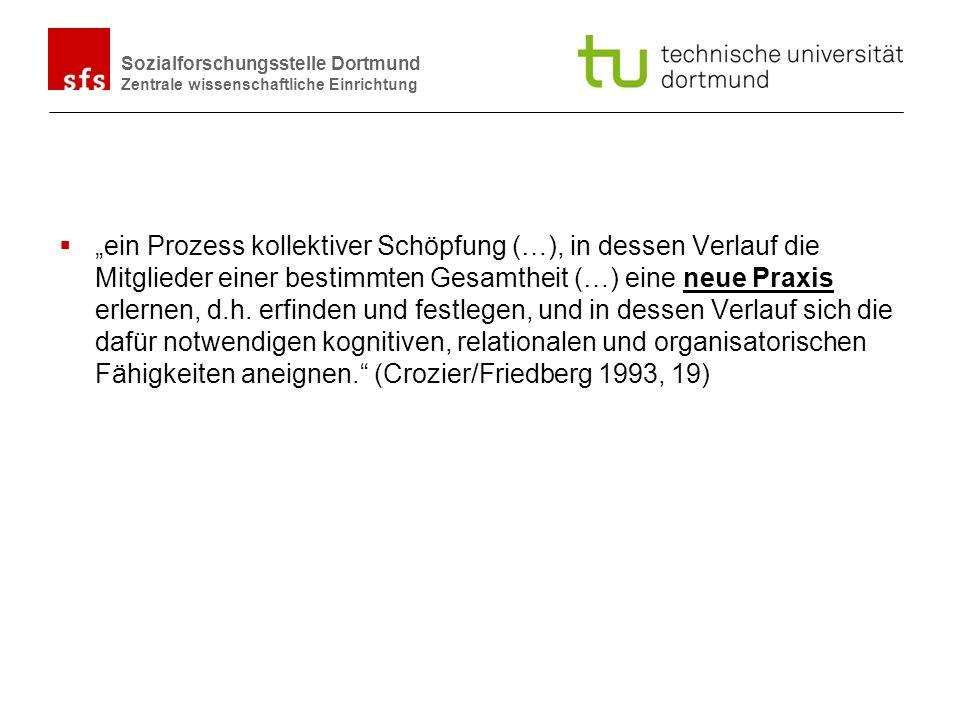 Name Autor | Ort und Datum Sozialforschungsstelle Dortmund Zentrale wissenschaftliche Einrichtung ein Prozess kollektiver Schöpfung (…), in dessen Ver