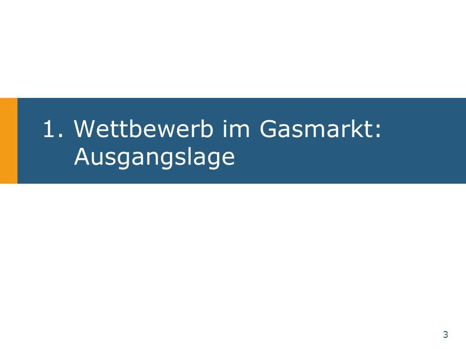 3 1. Wettbewerb im Gasmarkt: Ausgangslage