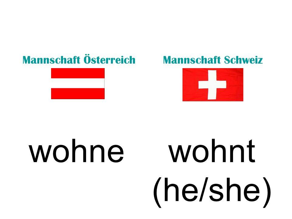 Mannschaft ÖsterreichMannschaft Schweiz wohnewohnt (he/she)
