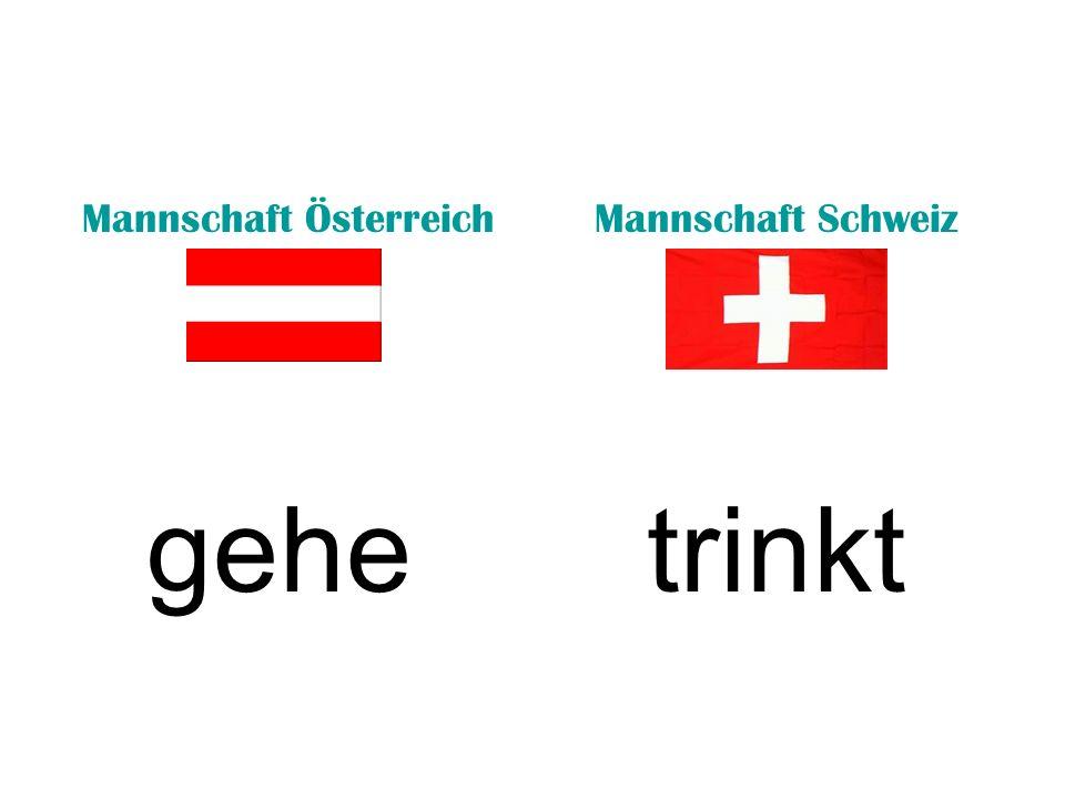 Mannschaft ÖsterreichMannschaft Schweiz gehetrinkt