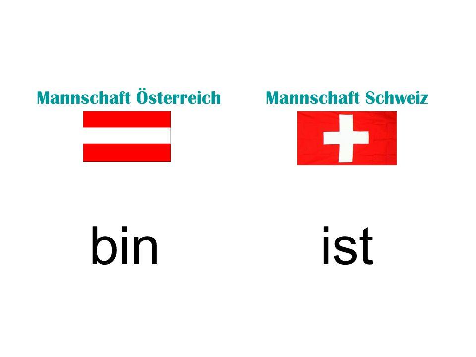 Mannschaft ÖsterreichMannschaft Schweiz trinkengehst