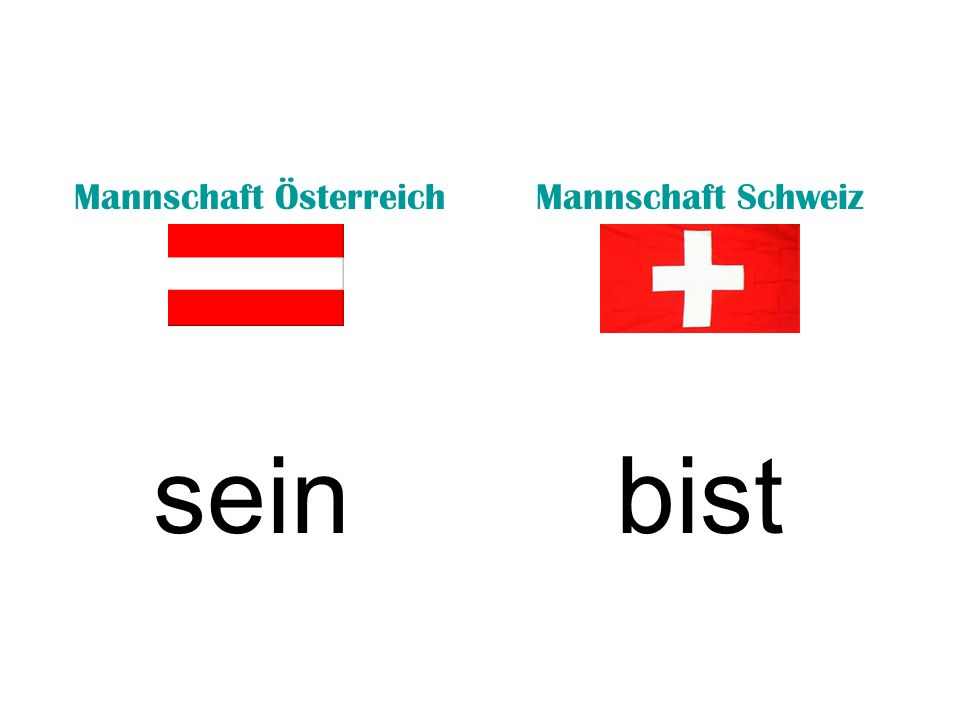 Mannschaft ÖsterreichMannschaft Schweiz seinsind (they)