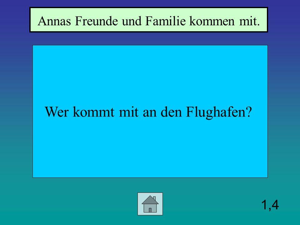 1,3 Wohin fliegt Anna Anna fliegt in die Schweiz.