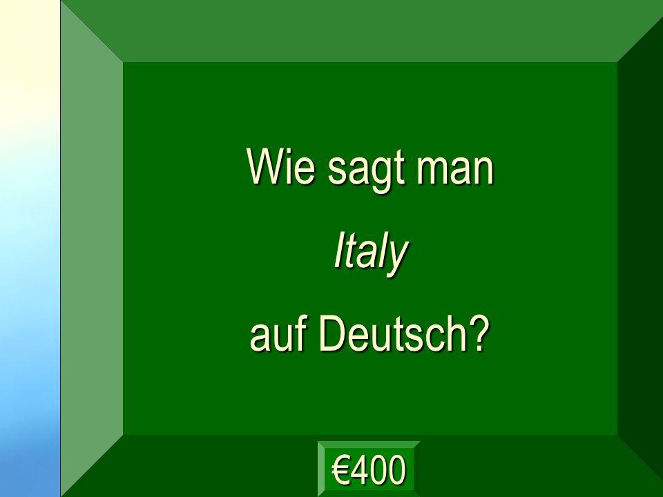 Italien Frage