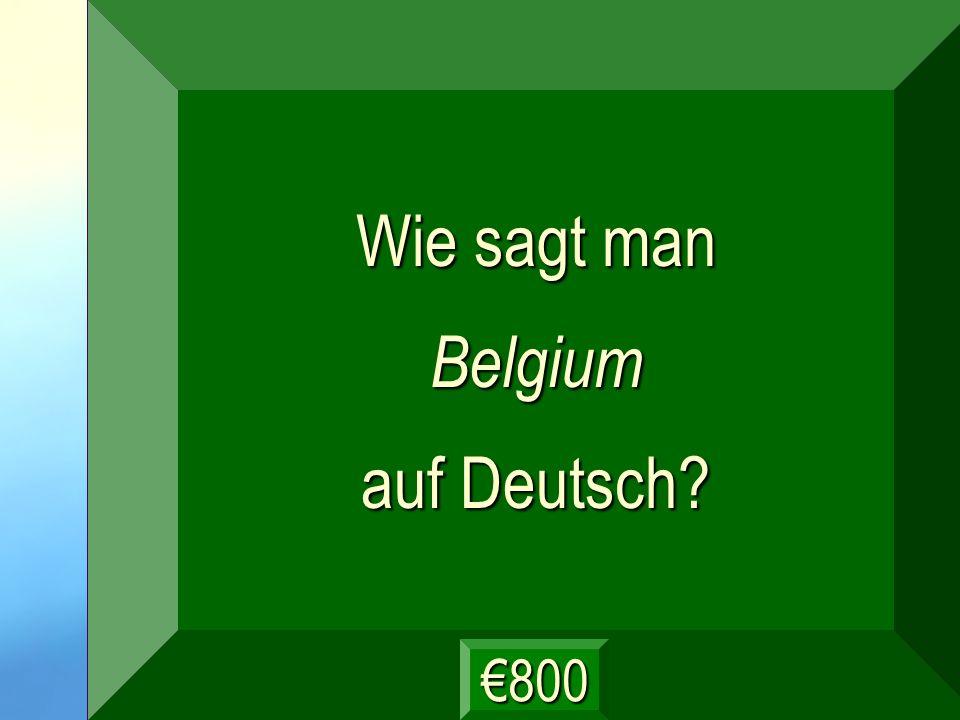 Belgien Frage