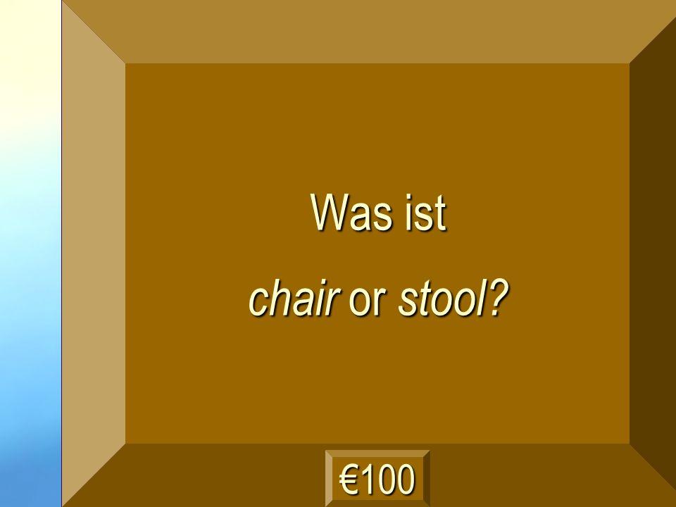 der Stuhl Frage