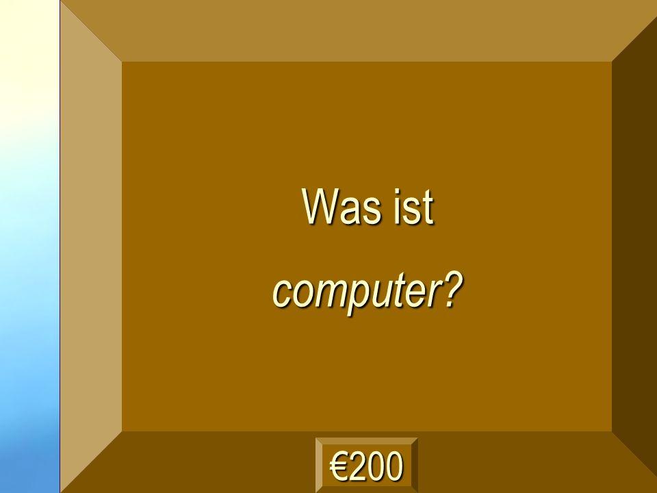 der Computer Frage