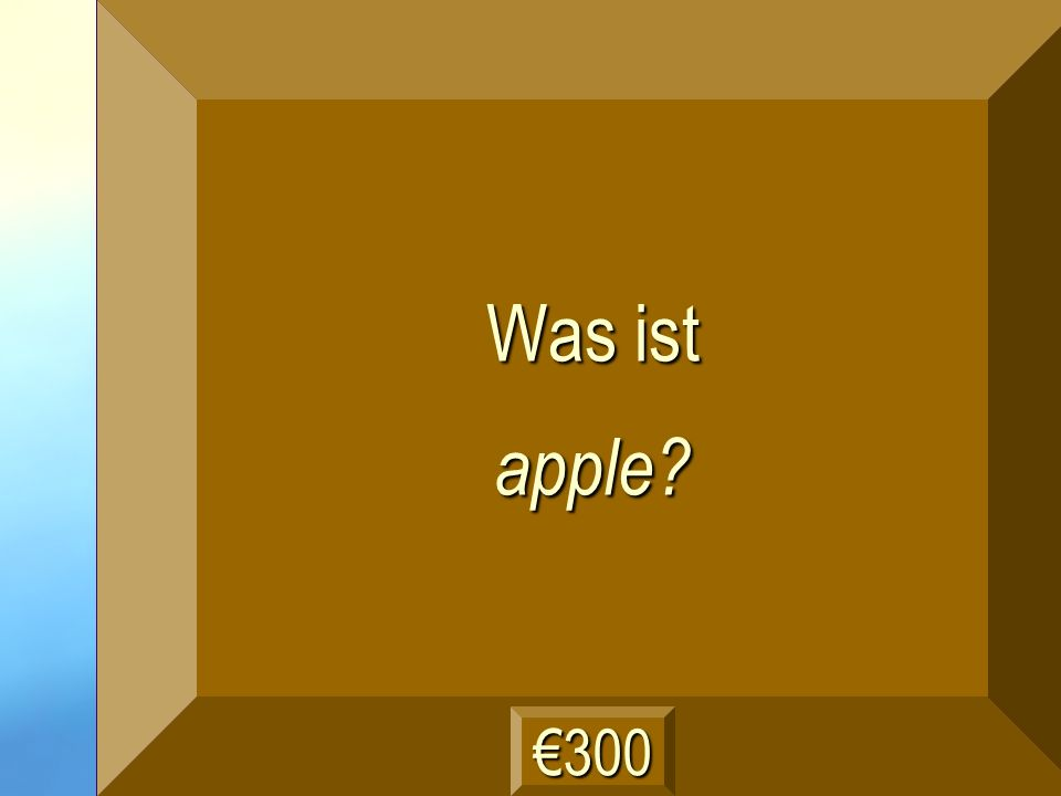 der Apfel Frage