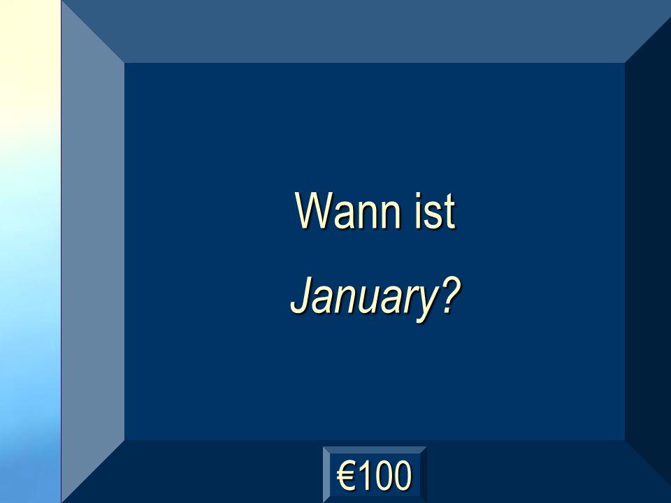 Januar Frage
