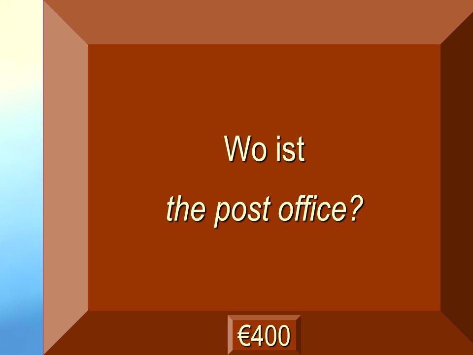 die Post Frage