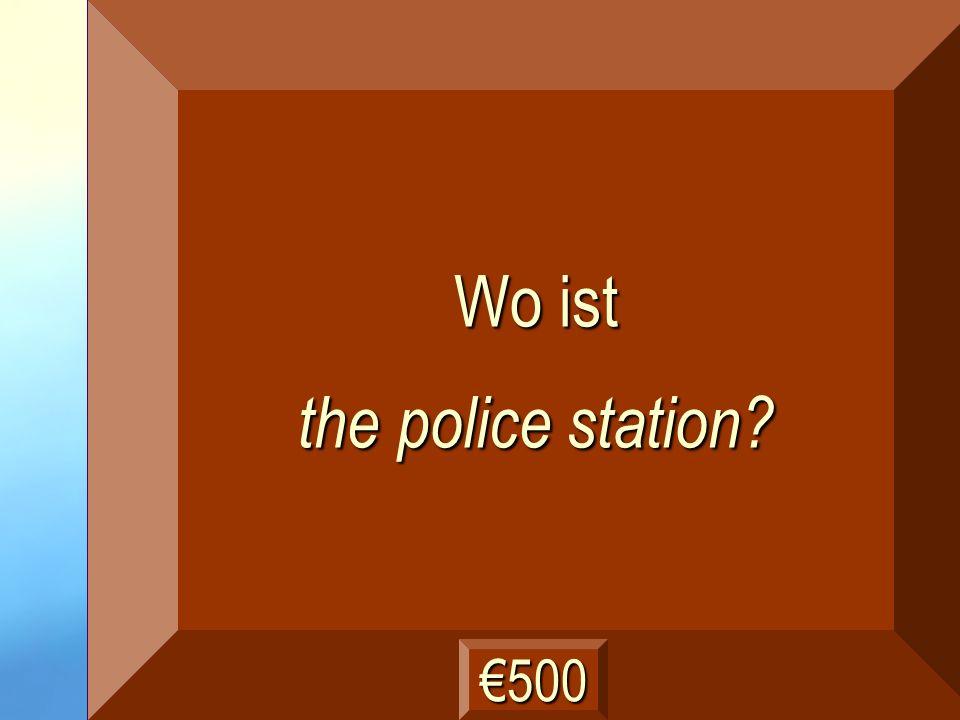 die Polizeiwache Frage