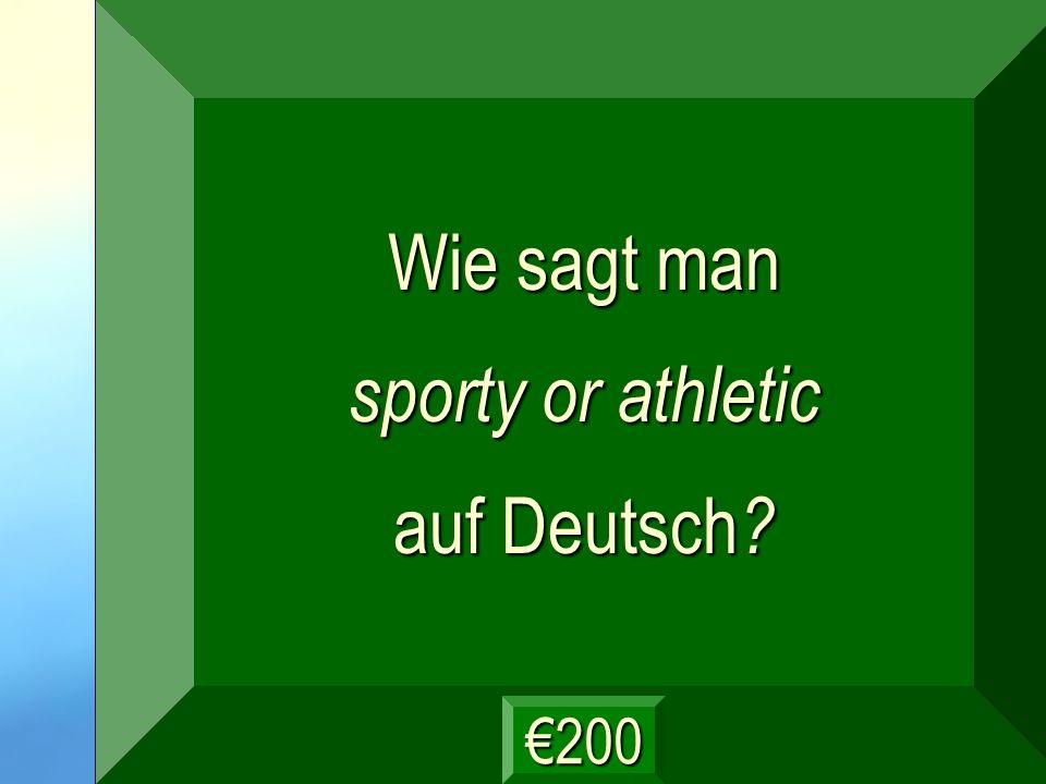 sportlich Frage