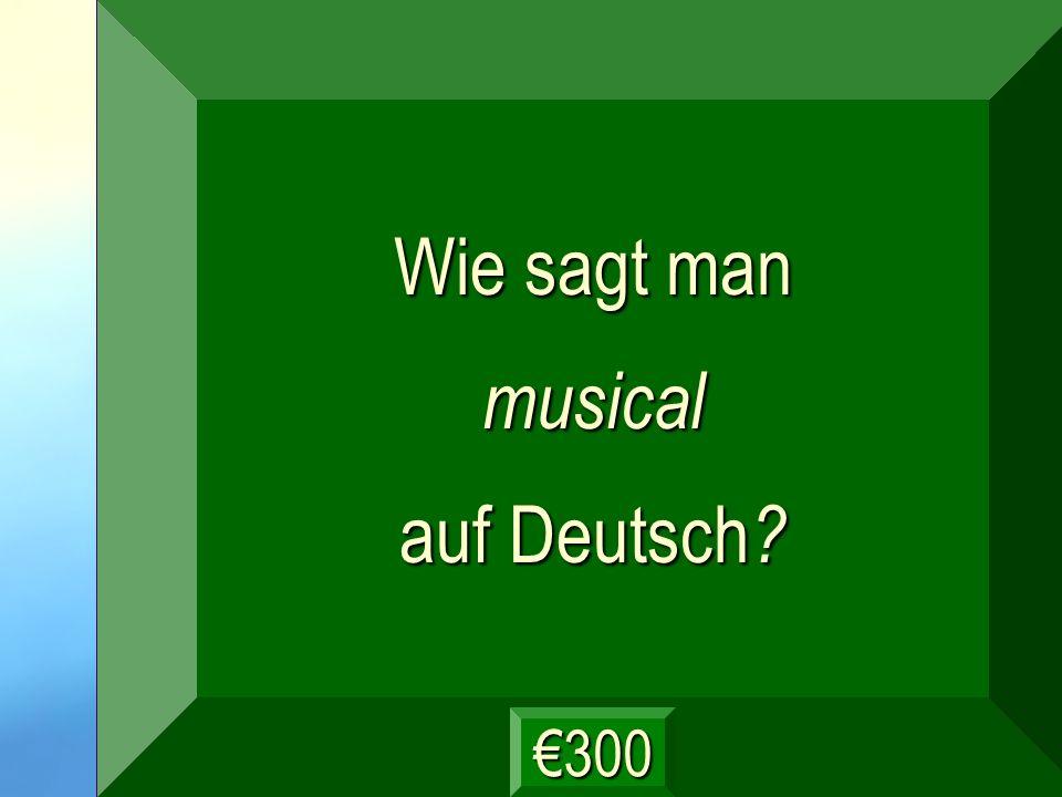 musikalisch Frage