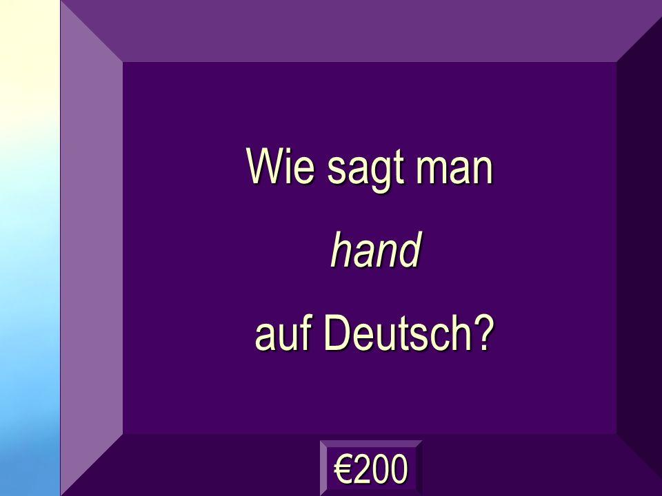 die Hand Frage