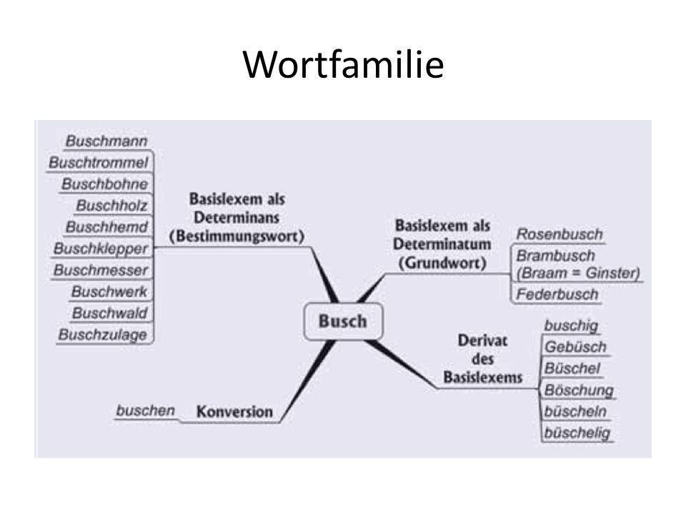 Wortfelder Jost Trier – Begründer der Wortfeldtheorie -Wörter bilden unter sich ein Gefüge, ein gegliedertes Ganzes, das man Wortfeld nennen kann.