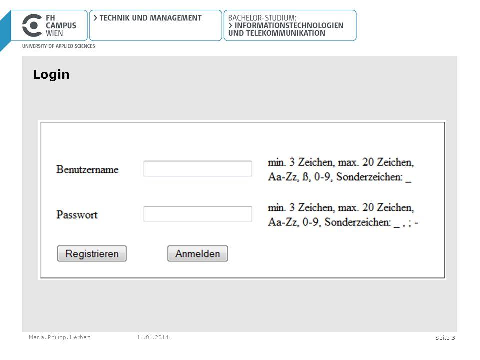 Seite 3 Login Maria, Philipp, Herbert11.01.2014