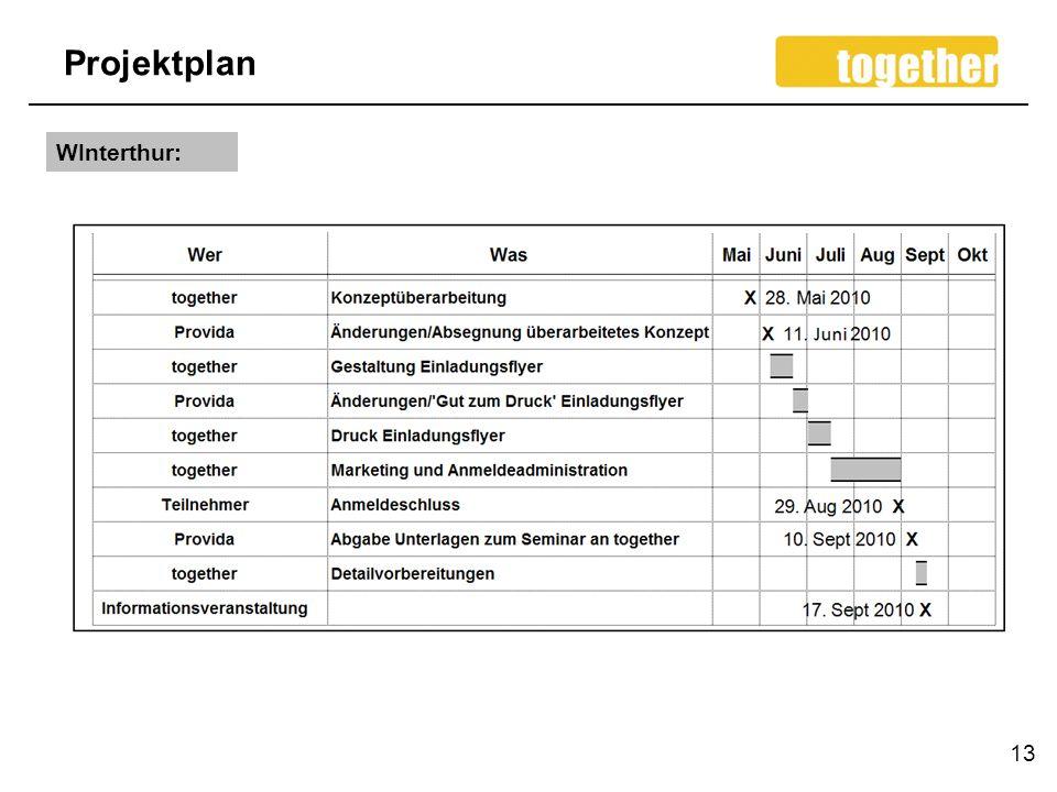 Projektplan 13 WInterthur: