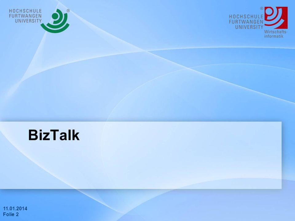 11.01.2014 Folie 1 Agenda Biztalk Realisierung Live Demo Probleme Zusammenfassung & Fazit