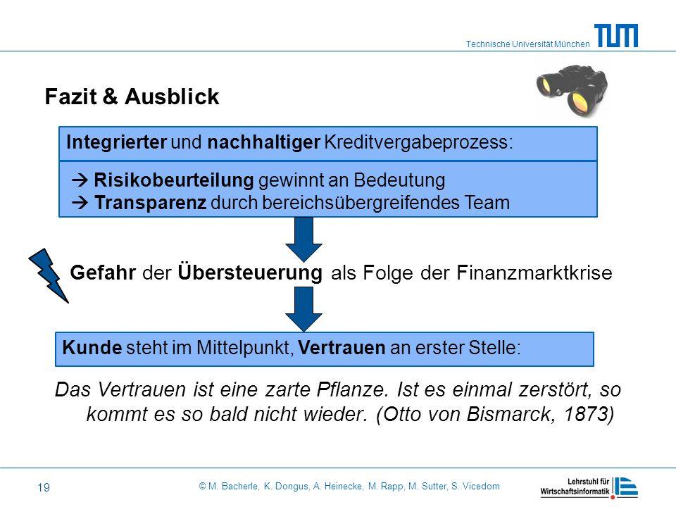 Technische Universität München © M. Bacherle, K. Dongus, A. Heinecke, M. Rapp, M. Sutter, S. Vicedom 19 Gefahr der Übersteuerung als Folge der Finanzm