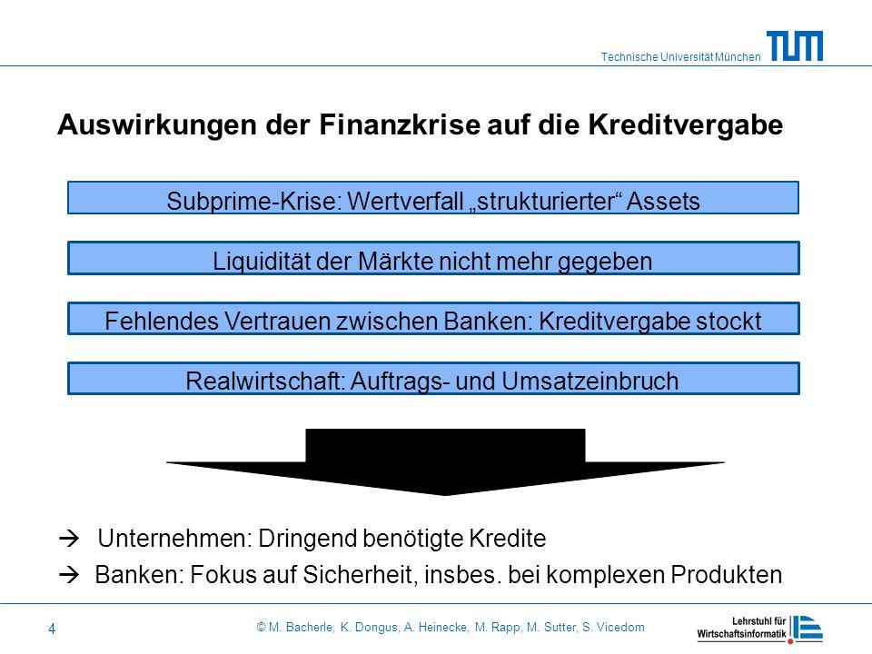 Technische Universität München © M. Bacherle, K. Dongus, A. Heinecke, M. Rapp, M. Sutter, S. Vicedom 4 Subprime-Krise: Wertverfall strukturierter Asse