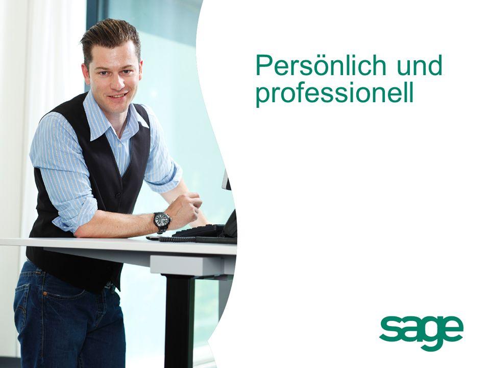 Sage: Firmenpräsentation Persönlich und professionell