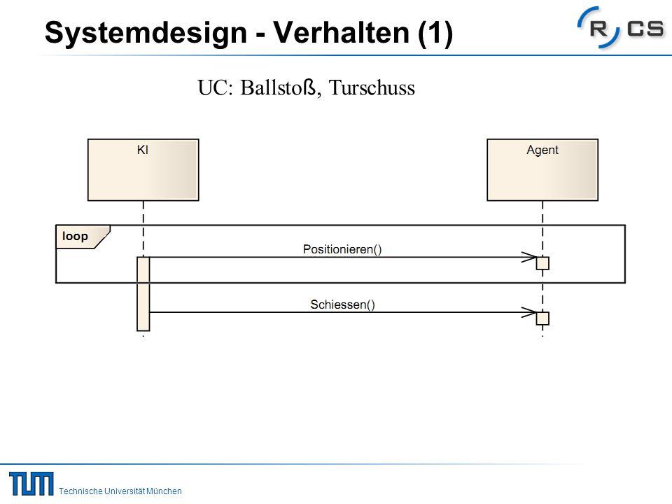 Technische Universität München Systemdesign - Verhalten (2) UC: Ballpass