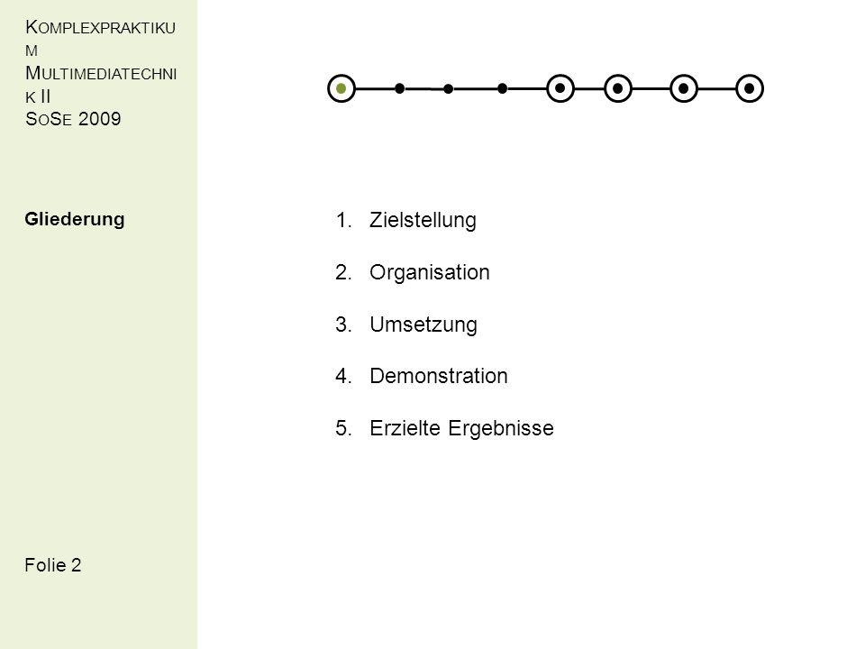 K OMPLEXPRAKTIKU M M ULTIMEDIATECHNI K II S O S E 2009 Folie 3 Logic-Tag (SPARQL request): Umsetzung Adaption (David Götze, Maximilian Rudolph, Susanne Haase, Torsten Schiefer)
