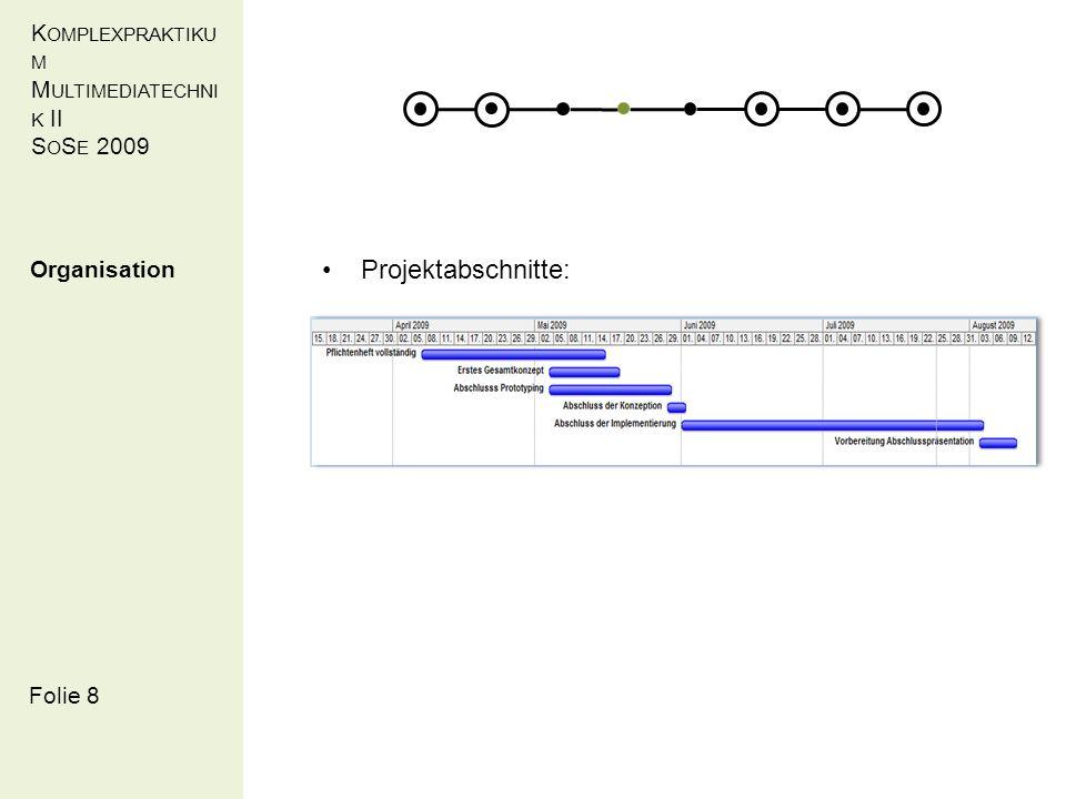K OMPLEXPRAKTIKU M M ULTIMEDIATECHNI K II S O S E 2009 Folie 12 Umsetzung Architektur (Kristian Scholze)
