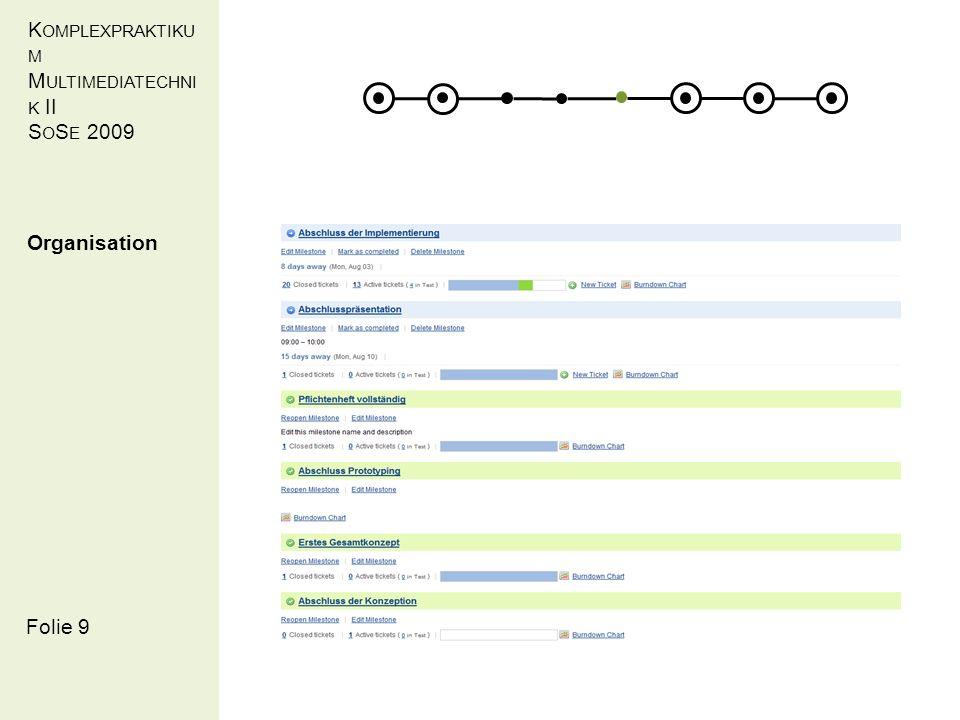 KOMPLEXPRAKT IKUM MULTIMEDIATEC HNIK II SOSE 2009 Demonstration Hyperadapt / Allgemeines Bereitstellung einer Portalseite – Laden der Javascriptsensoren ScreenSize,BrowserPlugins Folie 20
