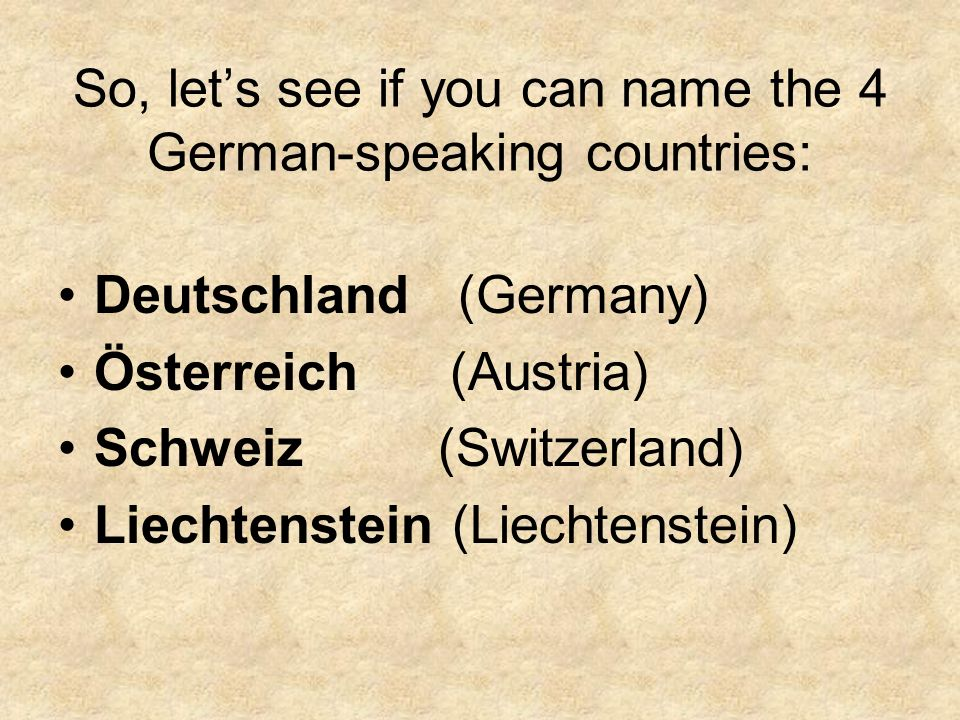 A few famous Germans:
