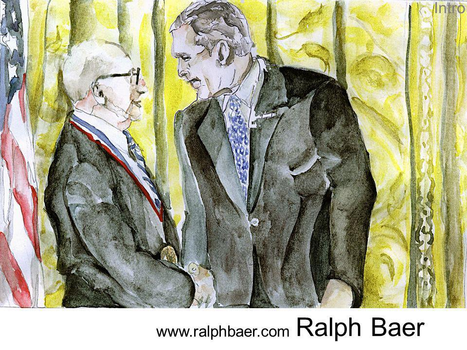 34 Ein Punkt Das erste Spiel von Ralph Baer bestand aus einem Punkt, den man mit einem Gewähr das mit einer Photozelle ausgestattet war abschießen konnte.