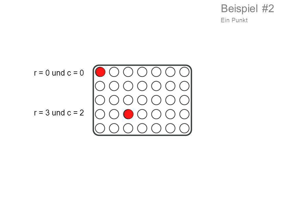 r = 3 und c = 2 r = 0 und c = 0 Beispiel #2 Ein Punkt